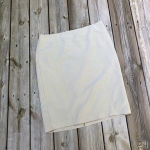 Tan pencil skirt. Rafaella size 12